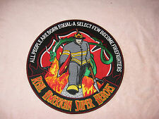 """Real American Heroes Firefighter 12"""" Patch"""