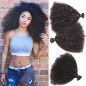 100% Mongolian Afro Kinky Curly Hair Virgin Brazilian Human Hair Weave Extension
