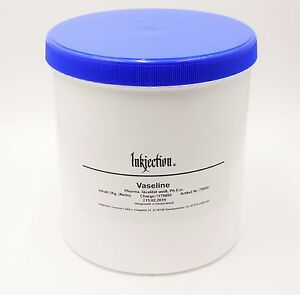 """1 Kg. reine Pharma. Vaseline weiß Ph. Eur. """"Inkjection"""" für Tattoo & Piercing"""