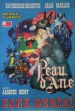 """""""PEAU D'ÂNE"""" Affiche originale turque entoilée (Jacques DEMY/ Catherine DENEUVE)"""