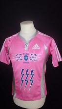 maillot de rugby vintage du Stade Français Adidas Rose Taille XS