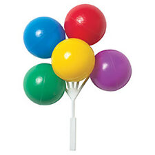 Primary Colors Balloon Cake Topper Cluster - 4 Count