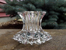 PartyLite P7378 Aurora Pillar Candle Holder Retired 24% Lead Crystal Collection