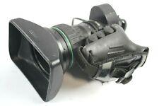 "Canon J17ax7.7B4 IRSD SX12 2/3"" Wide Broadcast Video BCTV w/ 2x Extender & Hood"
