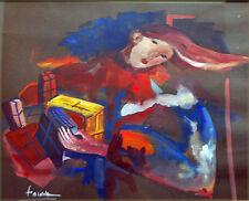 """Fauve (Martine Déchavanne) - """"Les cadeaux"""" (Gouache sur papier teinté), SBG"""