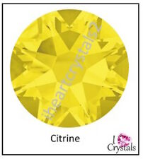 CITRINE Yellow Swarovski 7ss 2mm Crystal Flatback Rhinestones 2058 Xilion 144 pc