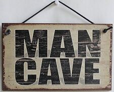 Man Cave Sign Beer Poker Card Room Hang Out Guitar Party Bar Cigar Draft Garage
