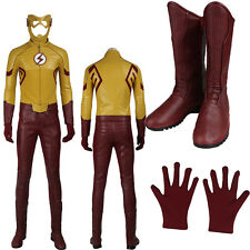 New Version Kids Flash Cosplay Flash Season 3 Wally West Cosply Costume Any Size