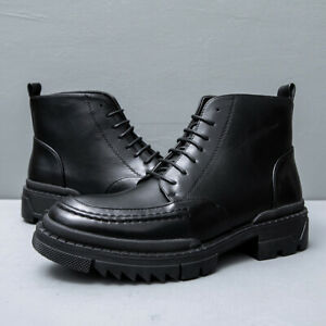 Mens Comfortable Outdoor Trekking Sports Motorcycle Ankle Lace Up Boots Shoes