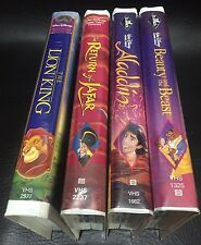 Lot of 4 Disney Black Diamond The Classics VHS Movies - Beauty And The Beast!