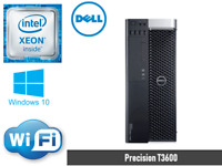Dell T3600 Workstation 8core E5-2690 2.9GHz 32GB 256GB SSD+1TB HD6450 WIN10 WIFI