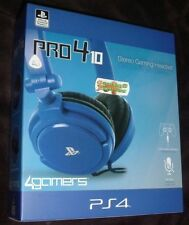 BLUE Officially Licensed STEREO Chat GAMING Headset Playstation 4 PS4 Pro4 10