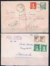 Dos sobres circulados con sellos de Fernando El Católico