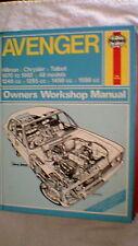Haynes Owners Workshop Manual - Avenger (All Variants)  1970 - 1982