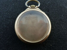 VINTAGE 16 SIZE ILLINOIS BUNN SPECIAL POCKET WATCH CASE #28