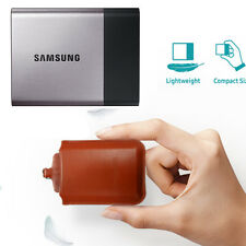 NEW Samsung T3 T5 SSD Official Authentic Brown Leather case