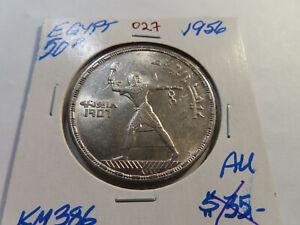 O27 Egypt 1956 50 Piastres AU