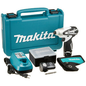 Makita Rechargeable Impact Driver 10.8V 1.3Ah with 2 White Batteries from JAPAN