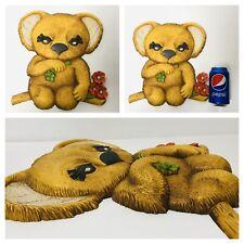 "70's 3D Koala Bear Molded Plaque Plastic Picture Art Wall Hanging 12.5"""