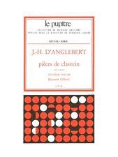 Anglebert D Pièces de clavecin lp54 volume 2 Classical Harpsichord MUSIC BOOK