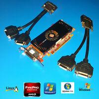 Dell Optiplex 320 330 360 380 390 SFF Quad 4 Monitor DVI Low Profile Video Card