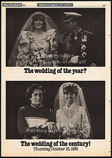 MORK & MINDY wedding promo__1981 Trade print AD__ROBIN WILLIAMS__Charles & Diana