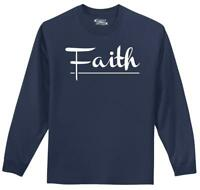 Mens Faith L/S Tee Religious Christian God Shirt