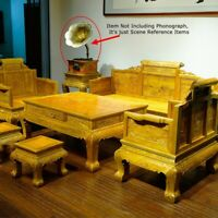 Silkwood Gold thread Nan Solid Wood Palace Chair sofa Coffee table Stool #1171