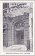 LONDON Barclay's Bank Advertising Brookes' Ltd stone c1910/30s? PPC