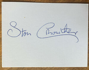 Signed Stan Crowther FA Cup Final 1958 Manchester United Football White Card