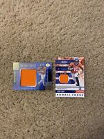 2020 Panini jerry jeudy memorabilia Card Lot Of 2! Denver Broncos. Rookie Card!