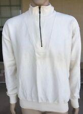 Vintage 90s Lands End Beige 1/4 Zip Pullover Jacket Peru Made Size Large