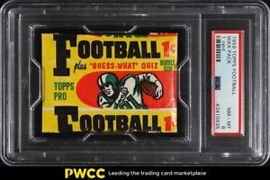 1959 Topps Football 1 Cent Wax Pack PSA 8 NM-MT
