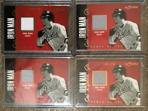 (4) 2004 Fleer inScribed Relic Lot (Silver,Red,Gold,Copper) #NGJ-CR Cal Ripken