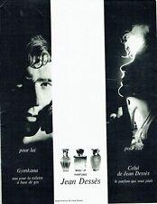 PUBLICITE ADVERTISING 126  1969  parfums Jean Dessès  Gymkana & Celui