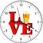 I Love Beer Love Park Funny Kitchen Living room Wall Clock