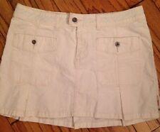 NEW DIESEL 30 White Sharp Mini Tennis Skirt Casual Pockets Pleats Cotton Stitch