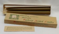 """Vintage Williamsburg Soap & Candle Handcrafted Bayberry Scented 10"""" Candles BOX"""