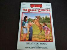 Book Boxcar Children #34 Mystery Horse Warner 1993 Scholastic Paperback