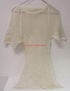 Vintage Fishnet T-Shirt ~ Mens/Boys ~ 1969 ~ Age of Aquarius ~ Faded White Color