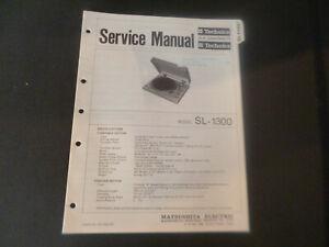 Original Service Manual Schaltplan Technics SL-1300