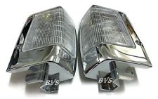 CHROME FRONT CORNER SIDE LIGHT LAMP WHITE for Nissan BDI925 D21 Yr.90-95