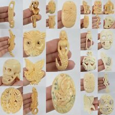 36-111mm Carved bone pendant bead *each one picture*