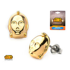 Star Wars C3PO Gold Plated Stud Earrings Officially Licensed Jewellery