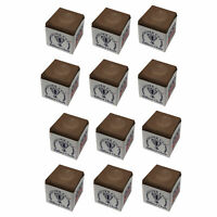 Silver Cup Pool Cue Chalk for Billiards and Snooker Brown 1 Dozen