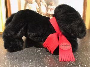 Gund 1996 Eddie Bauer Exclusive Black Labrador Dog 18 inch Retired with Scarf