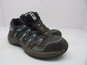 Salomon Women's XA Comp 7 WP Trail Hiking Shoe Grey Denim/Stone Blue/Lucite 6M