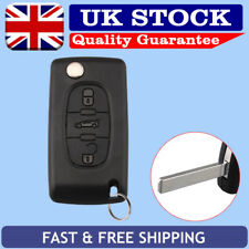 3 Button Remote Key Fob Case Shell Uncut Blade For Peugeot 207 307 407 308 607