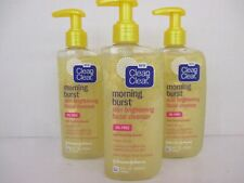 3 CLEAN & CLEAR MORNING BURST SKIN BRIGHT FACIAL CLEANSER 8 OZ EXP 1/20  BB 1815