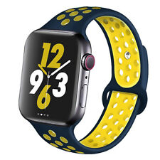 For Apple Watch Series 6 SE 5 4 3 44/42/40/38 MM SILICONE Sport Strap Soft Band